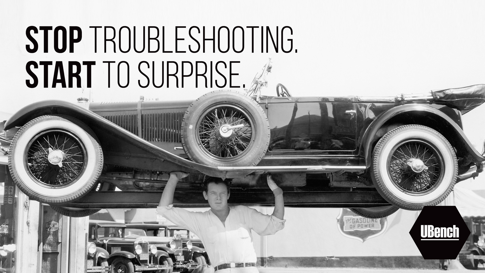 Stop troubleshooting. Start to surprise.
